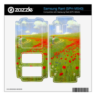 Field of Poppies by Pal Szinyei Merse Decals For Samsung Rant