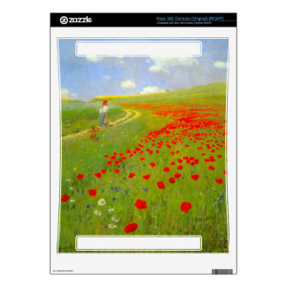 Field of Poppies by Pal Szinyei Merse Xbox 360 Console Skins