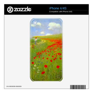 Field of Poppies by Pal Szinyei Merse Decal For iPhone 4S