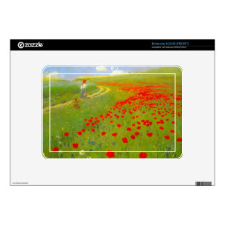 Field of Poppies by Pal Szinyei Merse Decal For Motorola XOOM