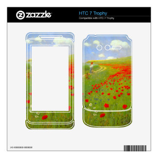 Field of Poppies by Pal Szinyei Merse HTC 7 Trophy Decals
