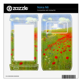 Field of Poppies by Pal Szinyei Merse Decal For The Nokia N8