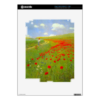Field of Poppies by Pal Szinyei Merse Decals For The iPad 2