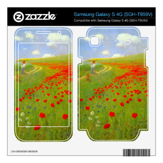 Field of Poppies by Pal Szinyei Merse Samsung Galaxy S 4G Decal