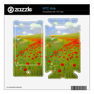 Field of Poppies by Pal Szinyei Merse HTC Aria Skin