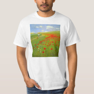 Field of Poppies by Pal Szinyei Merse T-Shirt