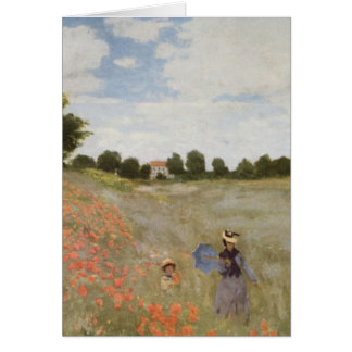 Field of Poppies Claude Monet Greeting Card