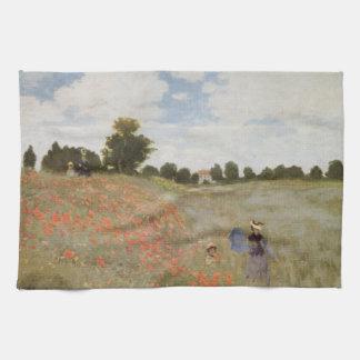 Field of Poppies Claude Monet Kitchen Towels