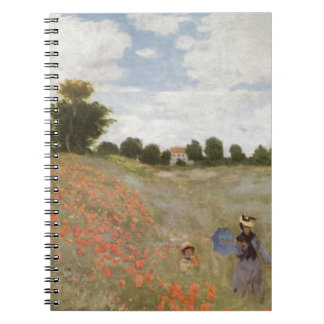 Field of Poppies Claude Monet Notebook