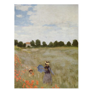 Field of Poppies Claude Monet Postcard