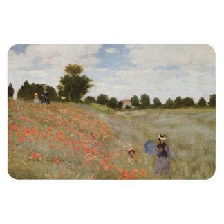Field of Poppies Claude Monet Rectangular Photo Magnet