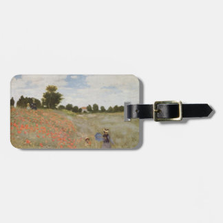 Field of Poppies Claude Monet Tag For Luggage