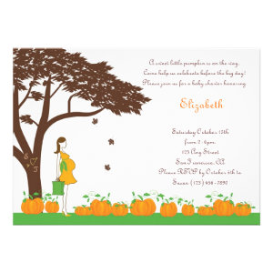 Field of Pumpkins Neutral Baby Shower Invitations