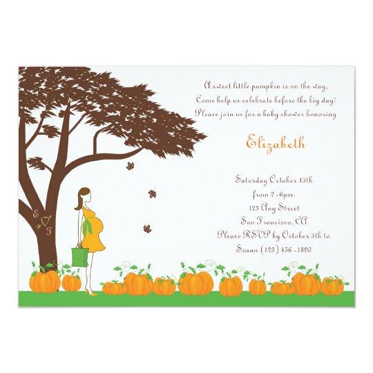 Field of Pumpkins Neutral Baby Shower Invitations