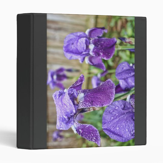 Field of Purple Iris Binder