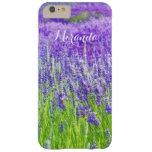 Field of Purple Lavender Flowers Personalized Barely There iPhone 6 Plus Case