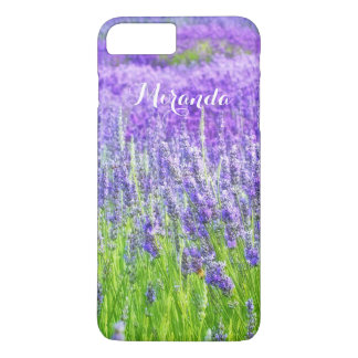Field of Purple Lavender Flowers Personalized iPhone 7 Plus Case
