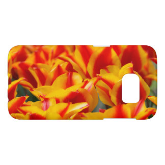 Field of Red and Yellow Tulips Photograph Samsung Galaxy S7 Case