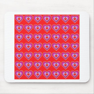 Field of red hearts. mouse pad
