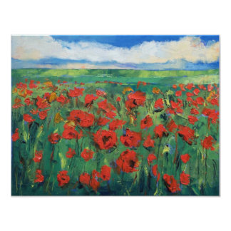 Field of Red Poppies Invitation