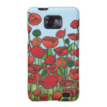 Field of red Poppy flowers Samsung Galaxy Cover