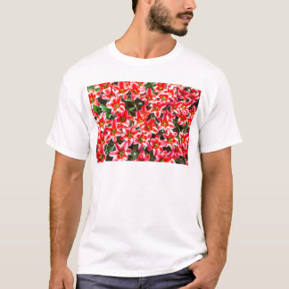 Field of red tulips from above T-Shirt
