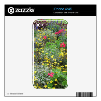 Field of spring flowers in bloom decals for the iPhone 4S