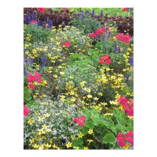 Field of spring flowers in bloom letterhead