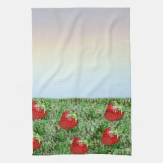 Field of Strawberries Kitchen Towel
