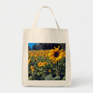 """FIELD OF SUNFLOWERS"" GROCERY TOTE BAG"