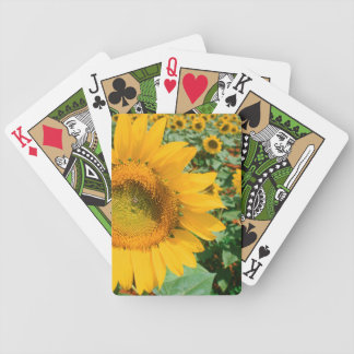 Field Of Sunflowers. Heidleberg District Bicycle Playing Cards