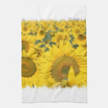 Field Of Sunflowers Kitchen Towel by PerennialGardens at Zazzle