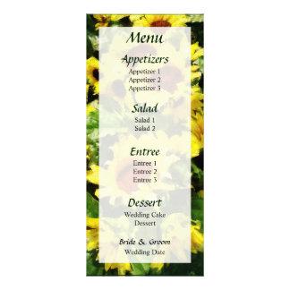 Field of Sunflowers Menu... Rack Card