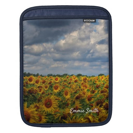 Field of Sunflowers Nature Photo iPad Sleeve