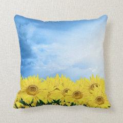 Field of Sunflowers Pillows