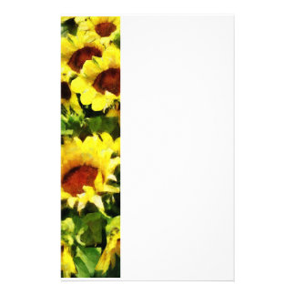 Field of Sunflowers Customized Stationery