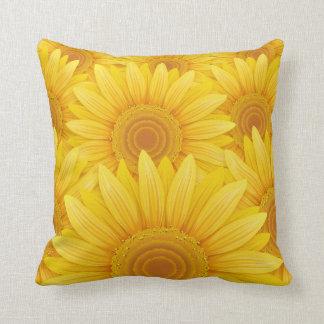 Field of Sunflowers Throw Pillows
