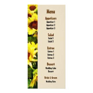 Field of Sunflowers Wedding Menu