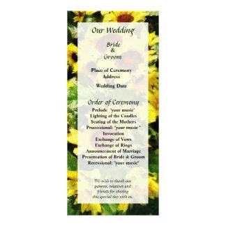 Field of Sunflowers Wedding Program
