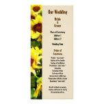 Field of Sunflowers Wedding Program Rack Cards