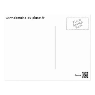 Field of the planet Red plane Postcard