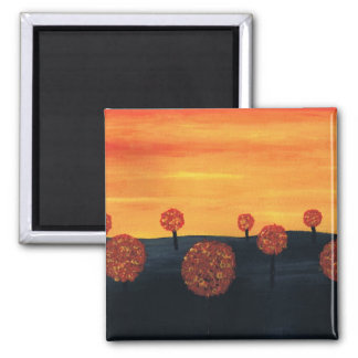 Field of Trees 2 Inch Square Magnet