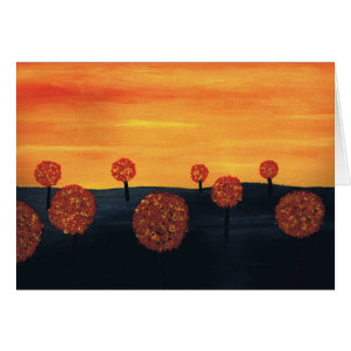 Field of Trees Greeting Card