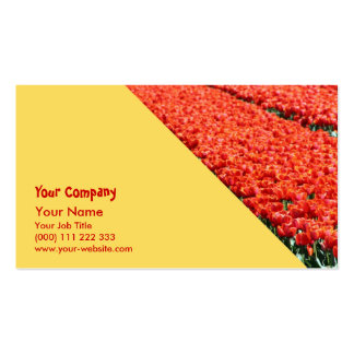 Field of tulips business card