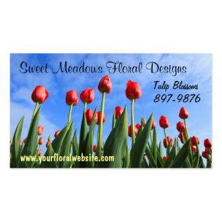 Field of Tulips  Flower Growers Business Card