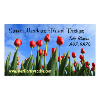 Field of Tulips  Flower Growers Business Cards