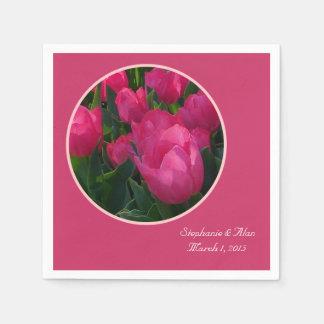 Field Of Tulips Wedding Paper Napkins
