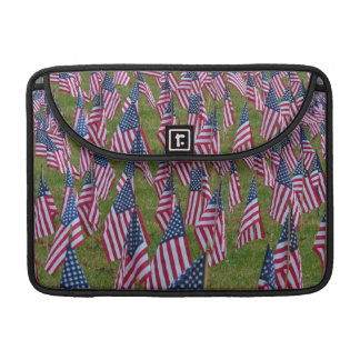 Field of US Flags MacBook Pro Sleeve