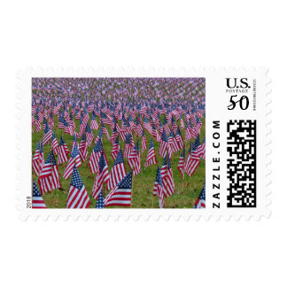 Field of US Flags Postage
