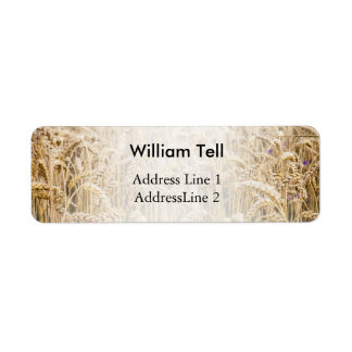 Field Of Wheat, Golden Grains Custom Return Address Label